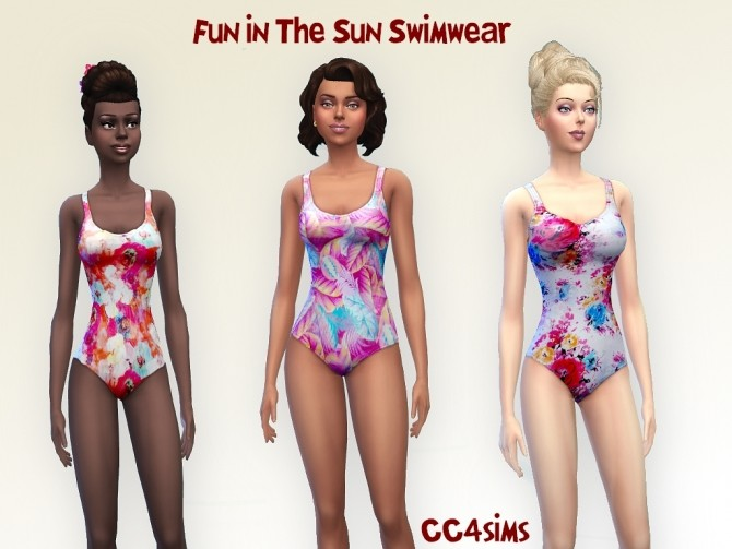 Sims 4 Fun in the sun swimsuit by Christine at CC4Sims