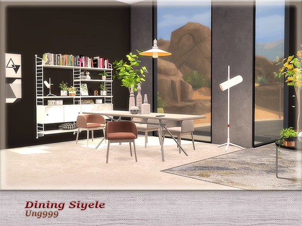 Dining Siyele by ung999 at TSR image 4222 Sims 4 Updates