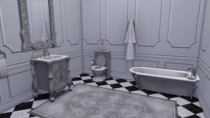 Dark Lux Bathroom from TS3 by TheJim07 at Mod The Sims image 423 670x377 Sims 4 Updates