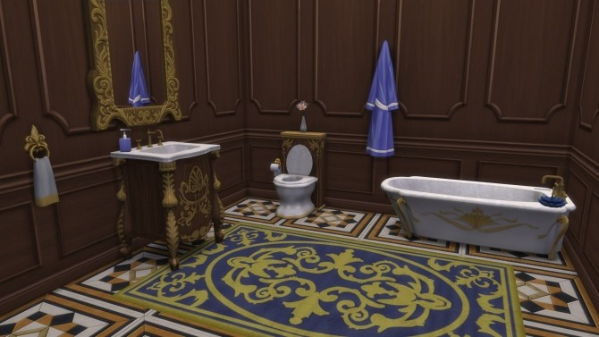 Dark Lux Bathroom from TS3 by TheJim07 at Mod The Sims image 433 670x377 Sims 4 Updates