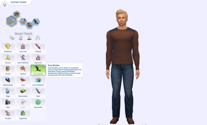 Sims 4 Grey Warden Trait by hayleysimzy at Mod The Sims
