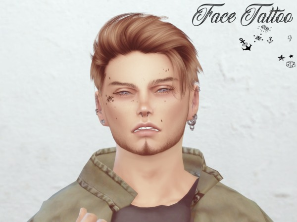 Face Tattoo by Reevaly at TSR image 437 Sims 4 Updates