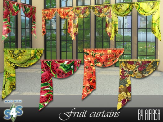 Fruit curtains at Aifirsa image 438 Sims 4 Updates