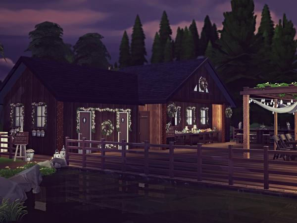 Sims 4 Romantic Lake Wedding Venue by Sooky at TSR