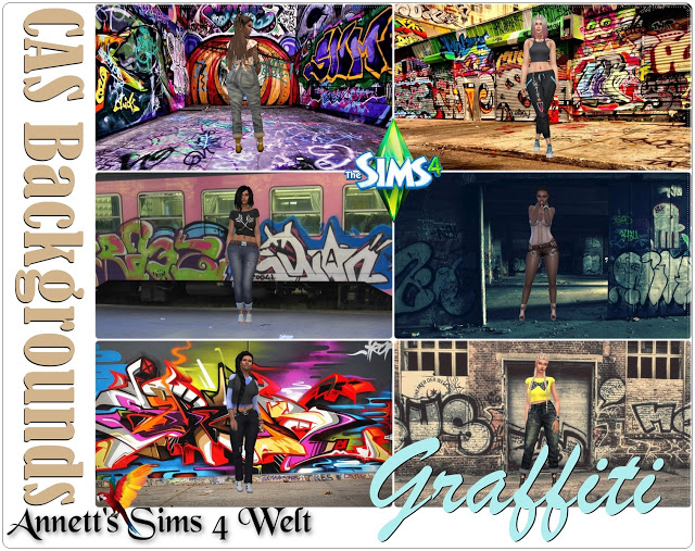 CAS Backgrounds Graffiti at Annett's Sims 4 Welt image 443 Sims 4 Updates