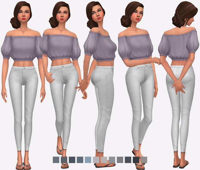 High Waisted Skinny Jeans at Simlish Designs image 448 Sims 4 Updates