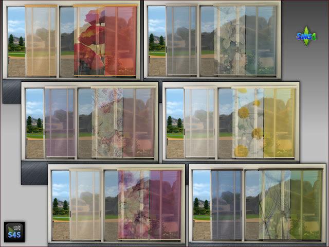Sims 4 Long Sliding Curtains by Mabra at Arte Della Vita