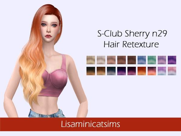 Sims 4 LMCS S Club Sherry n29 Hair Retexture by Lisaminicatsims at TSR