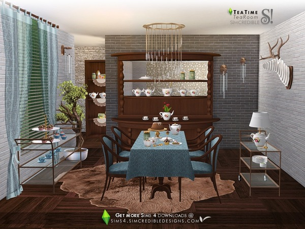 Tea Time set by SIMcredible at TSR image 4519 Sims 4 Updates