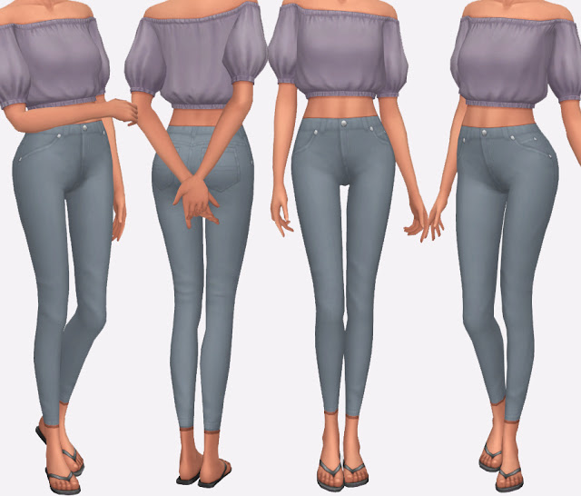High Waisted Skinny Jeans at Simlish Designs image 457 Sims 4 Updates