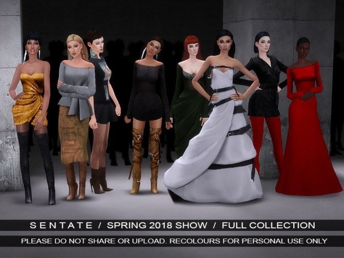 Sims 4 Spring 2018 collection at Sentate