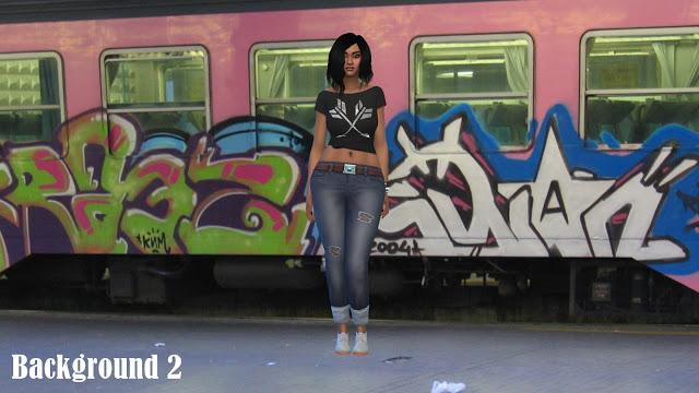 CAS Backgrounds Graffiti at Annett's Sims 4 Welt image 463 Sims 4 Updates