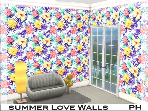 Summer Love Walls 1 by Pinkfizzzzz at TSR image 467 Sims 4 Updates