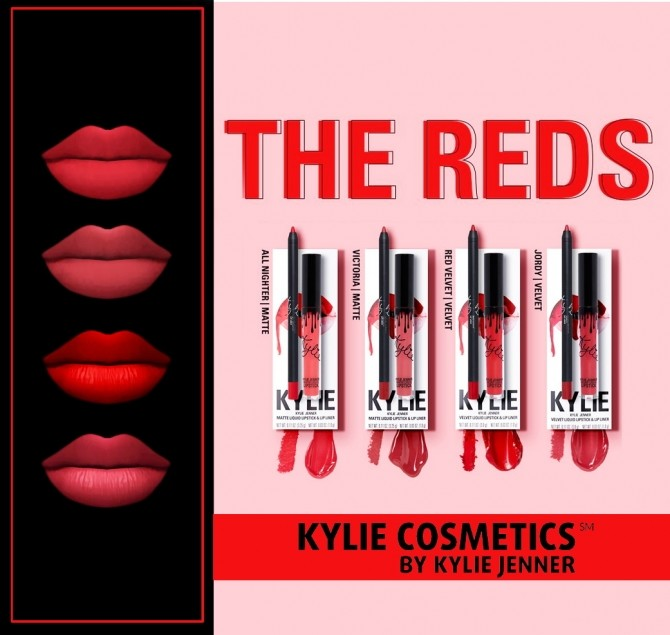 Sims 4 The Reds lips at FROST SIMS 4