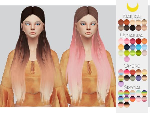 Sims 4 Hair Retexture 73 LeahLilliths Silhouette by Kalewa a at TSR