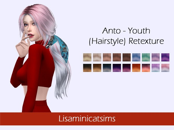 Sims 4 Anto Youth Hair Retexture by Lisaminicatsims at TSR