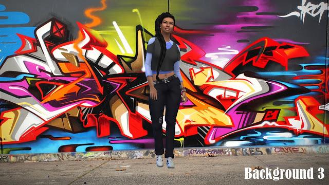 CAS Backgrounds Graffiti at Annett's Sims 4 Welt image 473 Sims 4 Updates