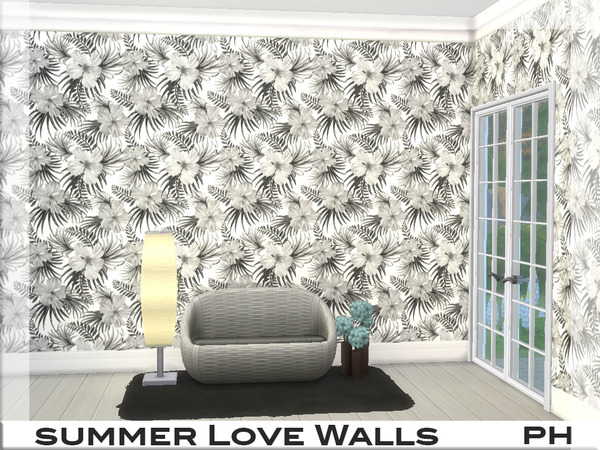 Summer Love Walls 1 by Pinkfizzzzz at TSR image 479 Sims 4 Updates