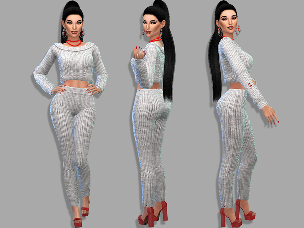 Sims 4 Erine outfit by Simalicious at TSR