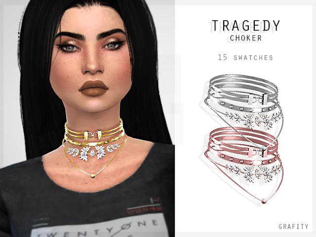 Sims 4 TRAGEDY CHOKER at Grafity cc