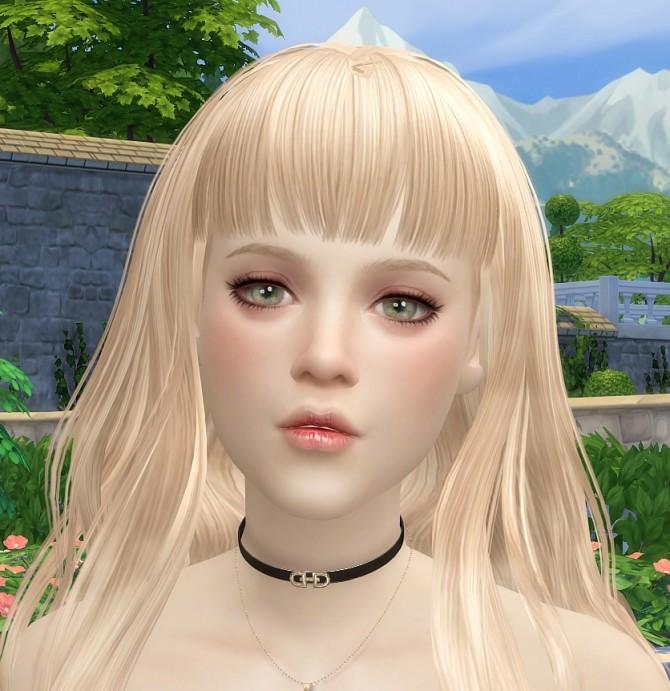 Sims 4 Emily at Vicky SweetBunny