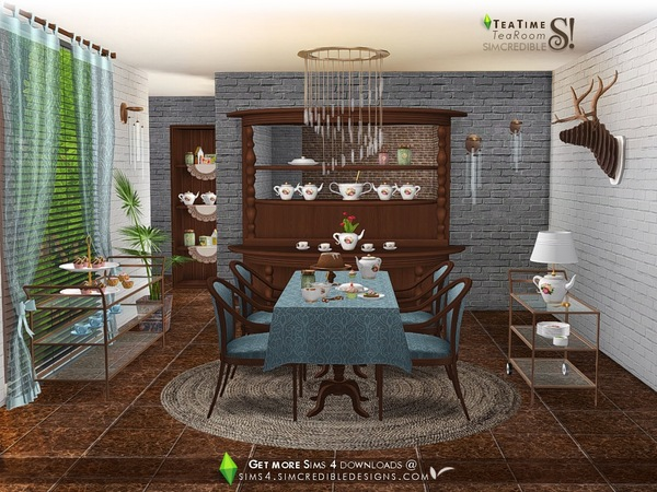 Tea Time set by SIMcredible at TSR image 5022 Sims 4 Updates