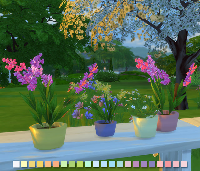 Liberated Flowers in Pastels at Simlish Designs image 5117 Sims 4 Updates