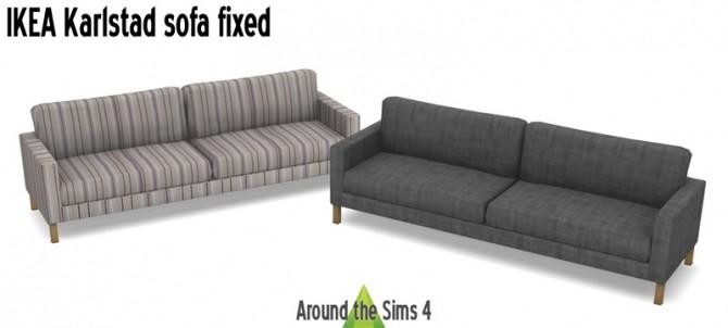Sims 4 Karlstad sofa fixed at Around the Sims 4
