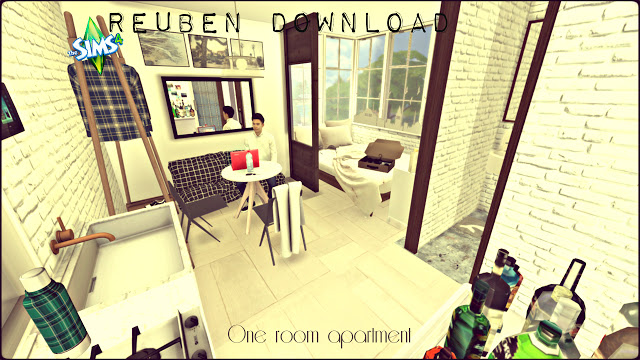 Reuben one room apartment at Pandasht Productions » Sims 4 ...