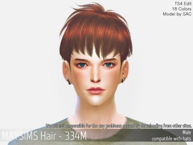 Sims 4 Hair 334M at May Sims