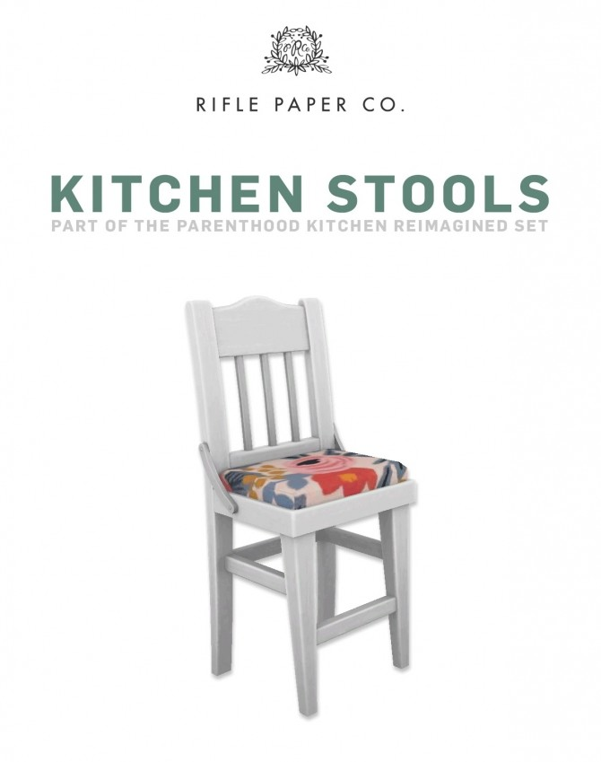 Rifle Paper Kitchen Stools at SimPlistic image 53 p1 670x849 Sims 4 Updates