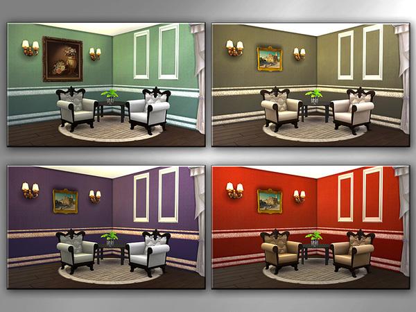 Sims 4 MB Opulent Wallwear Simple Elegance SET by matomibotaki at TSR