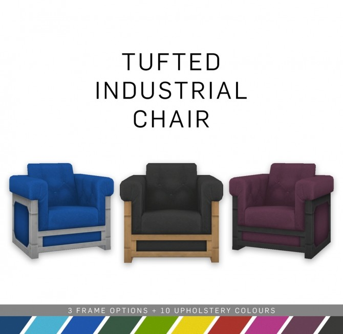 Tufted Industrial Chair at SimPlistic image 5510 670x653 Sims 4 Updates