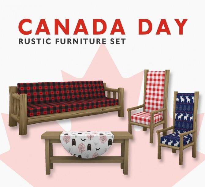 Canada rustic furniture set at SimPlistic image 5511 670x611 Sims 4 Updates