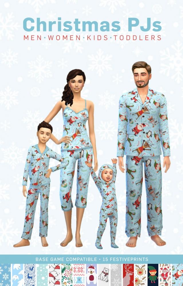 Matchy Matchy Christmas Pjs At Simplistic 187 Sims 4 Updates