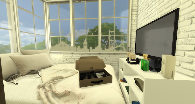 Sims 4 Reuben one room apartment at Pandasht Productions