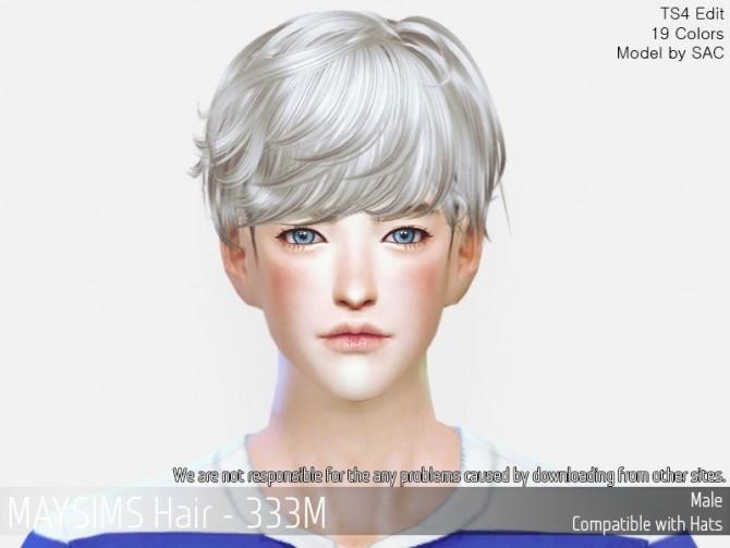Sims 4 Hair 333M at May Sims