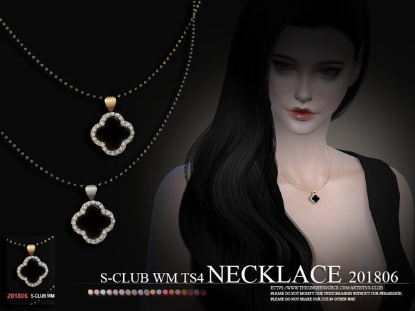 Sims 4 Necklace F 201806 by S Club WM at TSR