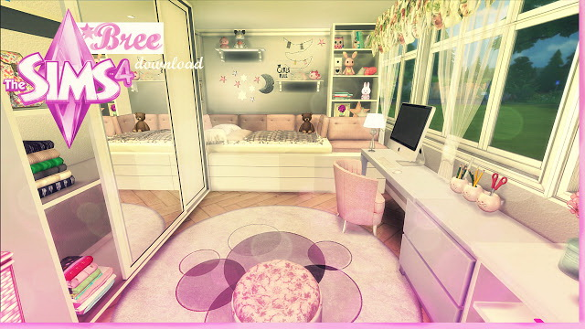 Bree pink and girly kids room by Rissy Rawr at Pandasht Productions image 571 Sims 4 Updates