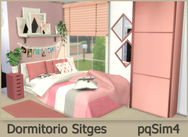 Sitges Bedroom at pqSims4 image 577 Sims 4 Updates