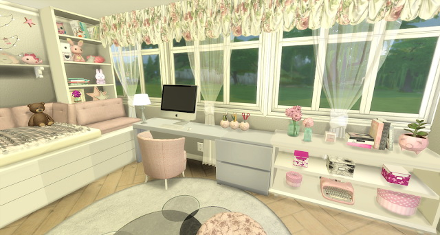 Bree pink and girly kids room by Rissy Rawr at Pandasht Productions image 581 Sims 4 Updates