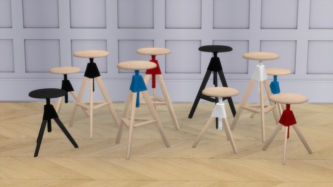 TOM AND JERRY stools at Meinkatz Creations image 583 670x377 Sims 4 Updates
