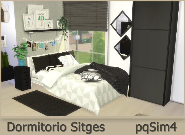 Sitges Bedroom at pqSims4 image 587 Sims 4 Updates