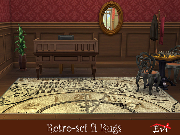 Sims 4 Retro Sci fi rugs by evi at TSR