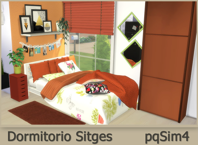 Sitges Bedroom at pqSims4 image 597 Sims 4 Updates