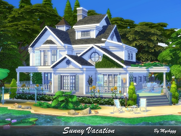 Sunny Vacation house by MychQQQ at TSR image 6022 Sims 4 Updates