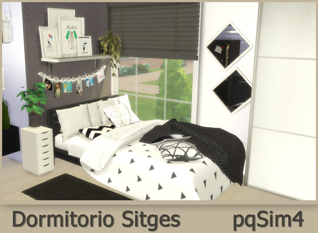 Sims 4 Sitges Bedroom at pqSims4