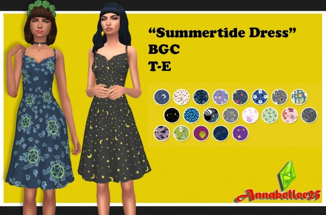 Sims 4 Summertide Dress by Annabellee25 at SimsWorkshop