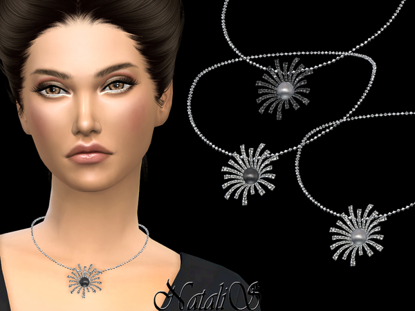 Splash necklace with pearl by NataliS at TSR image 6124 Sims 4 Updates