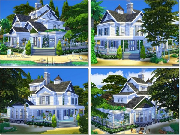 Sunny Vacation house by MychQQQ at TSR image 6125 Sims 4 Updates